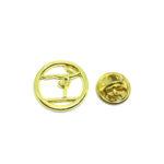 Gold plated Gymnastics Pin