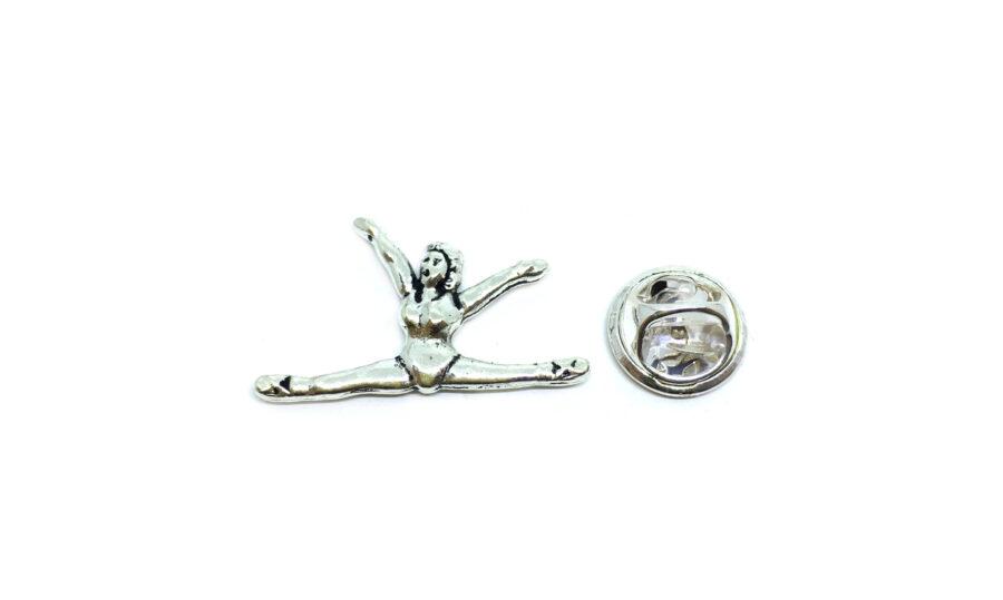 Silver plated Gymnastics Pin