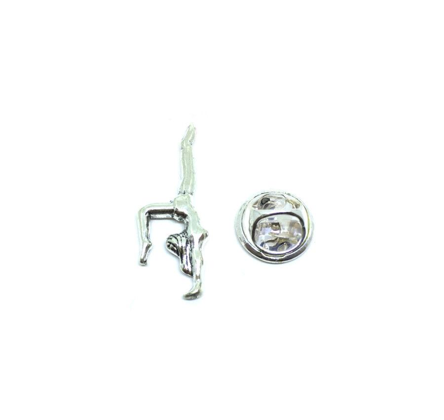 Silver tone Gymnastics Pin