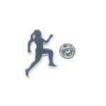 Black Enamel Gymnastics Pin