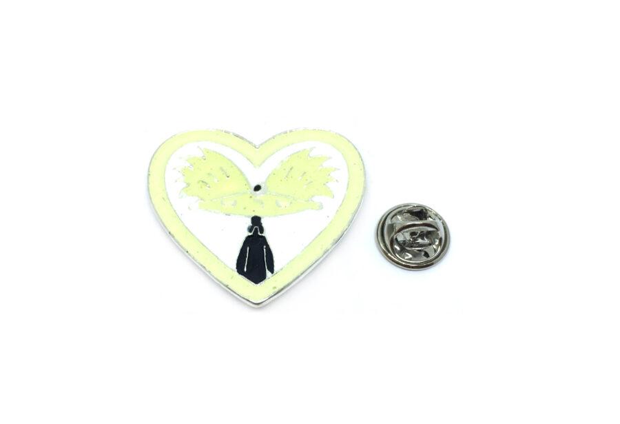 Arnold Cartoon Enamel Heart Pin