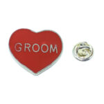 Groom Heart Lapel Pin