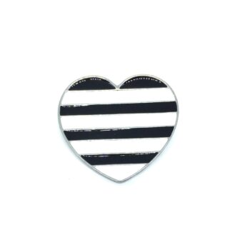 Enamel Heart Brooch Pin