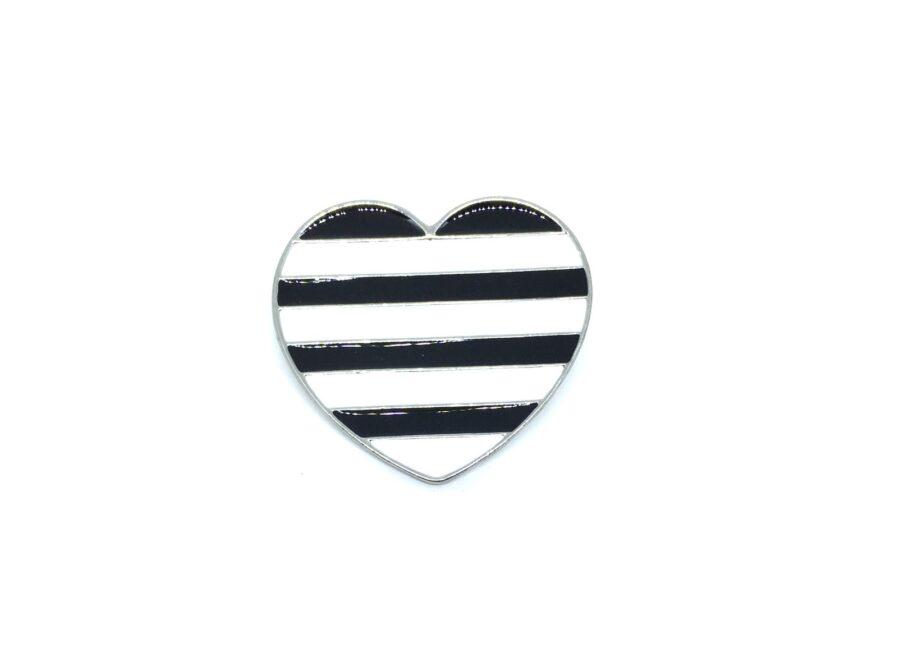 Enamel Heart Brooch Pin