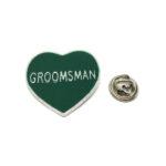 Groomsman Heart Lapel Pin