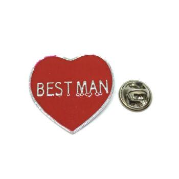 BESTMAN Enamel Heart Lapel Pin
