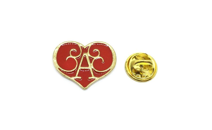 Red Enamel Heart Pin