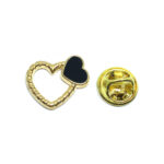 Gold plated Enamel Heart Pin
