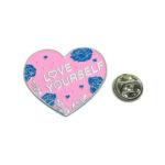 LOVE YOURSELF Heart Lapel Pin