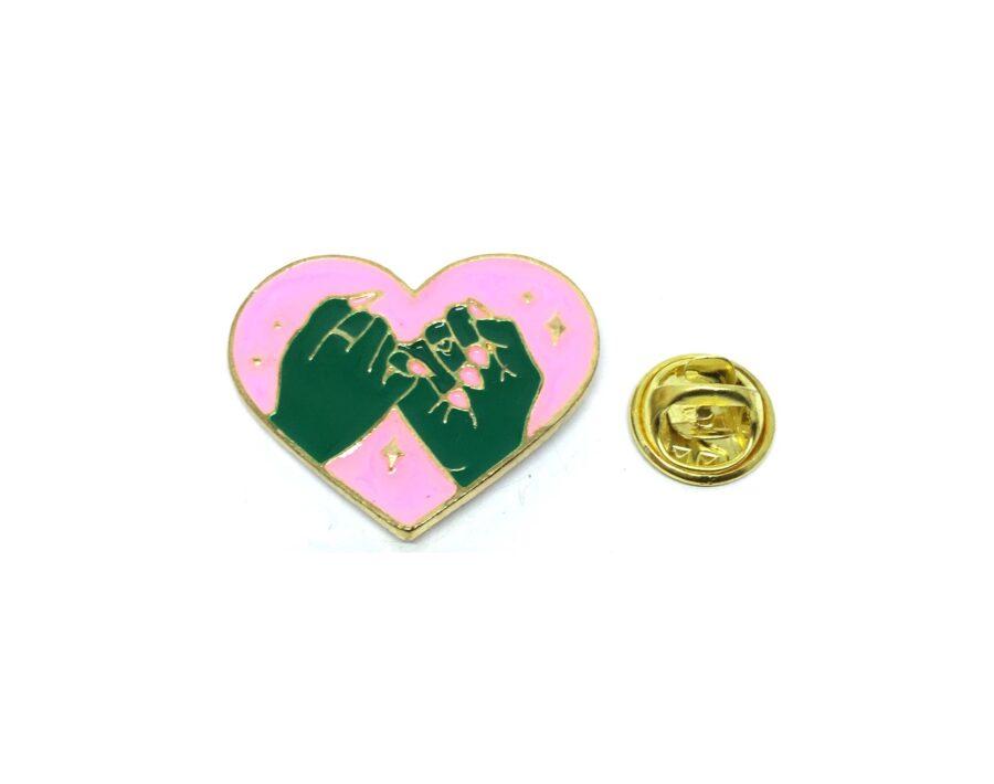Double hand Heart Lapel Pin