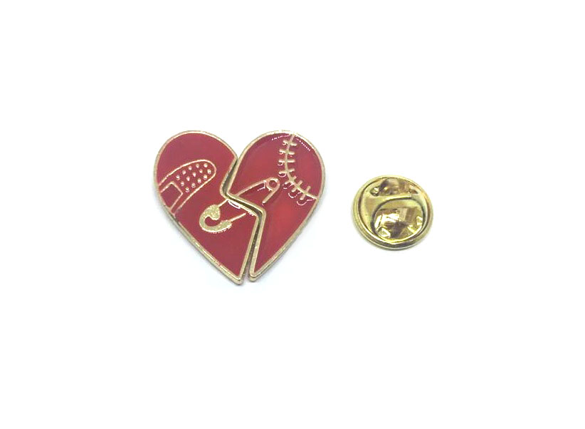 Joining Heart Lapel Pin