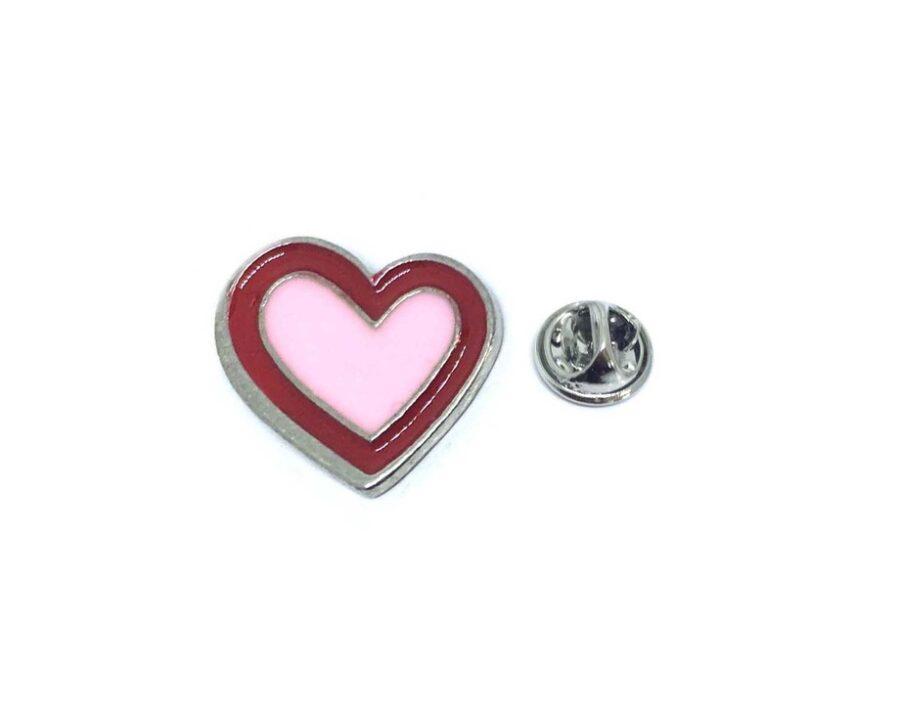 Enamel Heart Lapel Pin