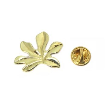 Gold plated Leaf Lapel Pin