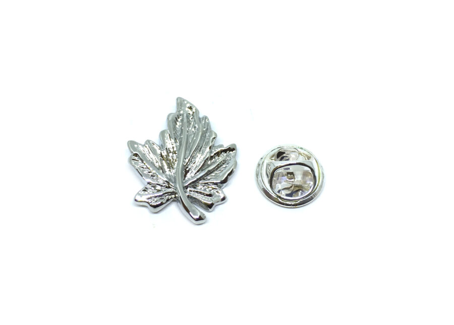 Silver plated Leaf Lapel Pins