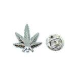 Silver tone Leaf Lapel Pins