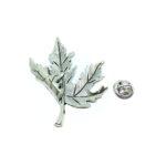 Silver plated Leaf Brooch Pins