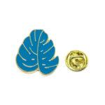 Blue Enamel Leaf Lapel Pin