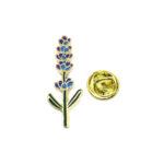 Gold tone Enamel Leaf Lapel Pin