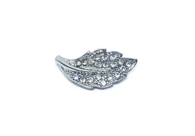 Crystal Leaf Lapel Pin