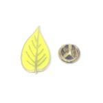 Yellow Enamel Leaf Lapel Pin