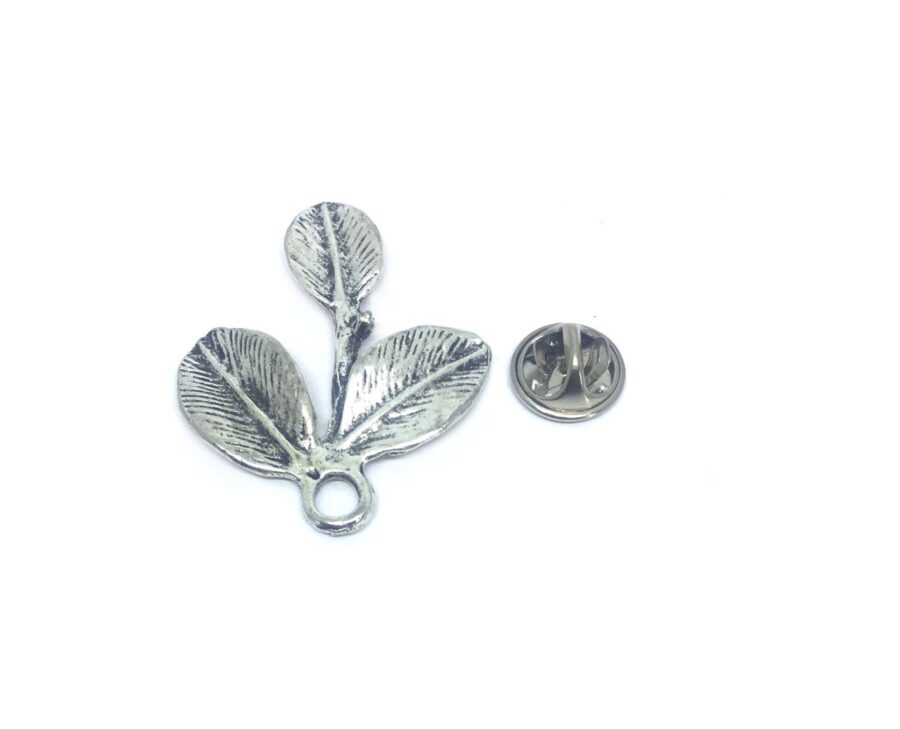 Oxidize Leaf Lapel Pin