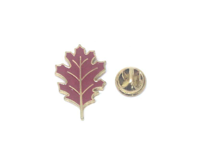 Red Enamel Leaf Lapel Pin