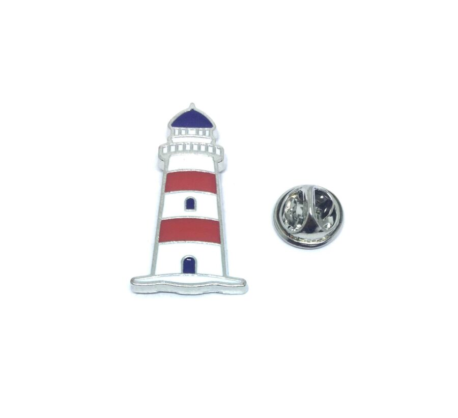 Silver plated Lighthouse Lapel Pin