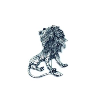 Antique Lion Brooch Pin