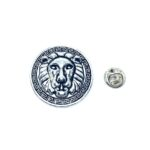 Silver plated Lion Lapel Pin