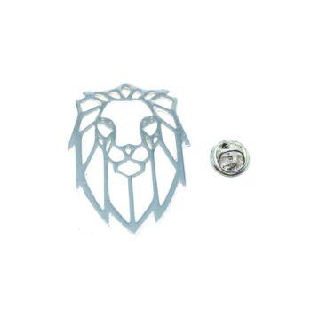 Lion Head Lapel Pin