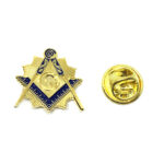 Gold plated Enamel Masonic Lapel Pin