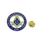 """""""FAITH, HOPE, CHARITY"""" Masonic Lapel Pin"""