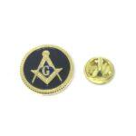Black Enamel Masonic Lapel Pin
