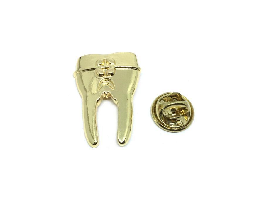 Gold plated Teeth Medical Lapel Pin