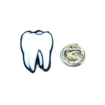 White Enamel Medical Lapel Pin