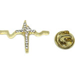 Gold plated Crystal Medical Lapel Pin