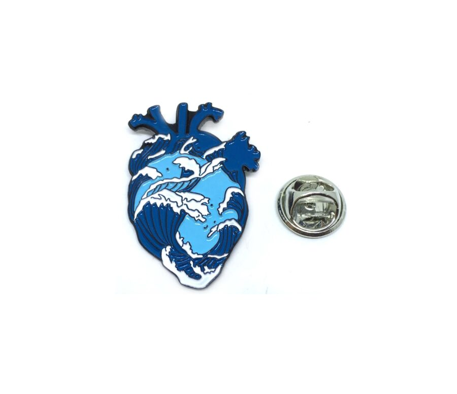 Ocean Heart Medical Lapel Pin