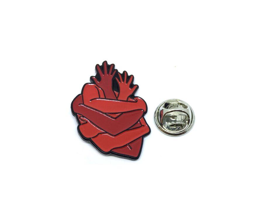 Double Heart Medical Lapel Pin