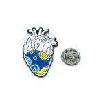 Enamel Heart Medical Lapel Pin