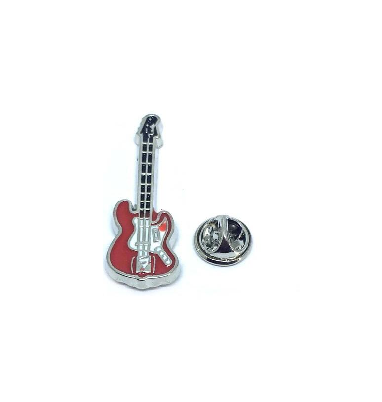 Enamel Guitar Lapel Pin