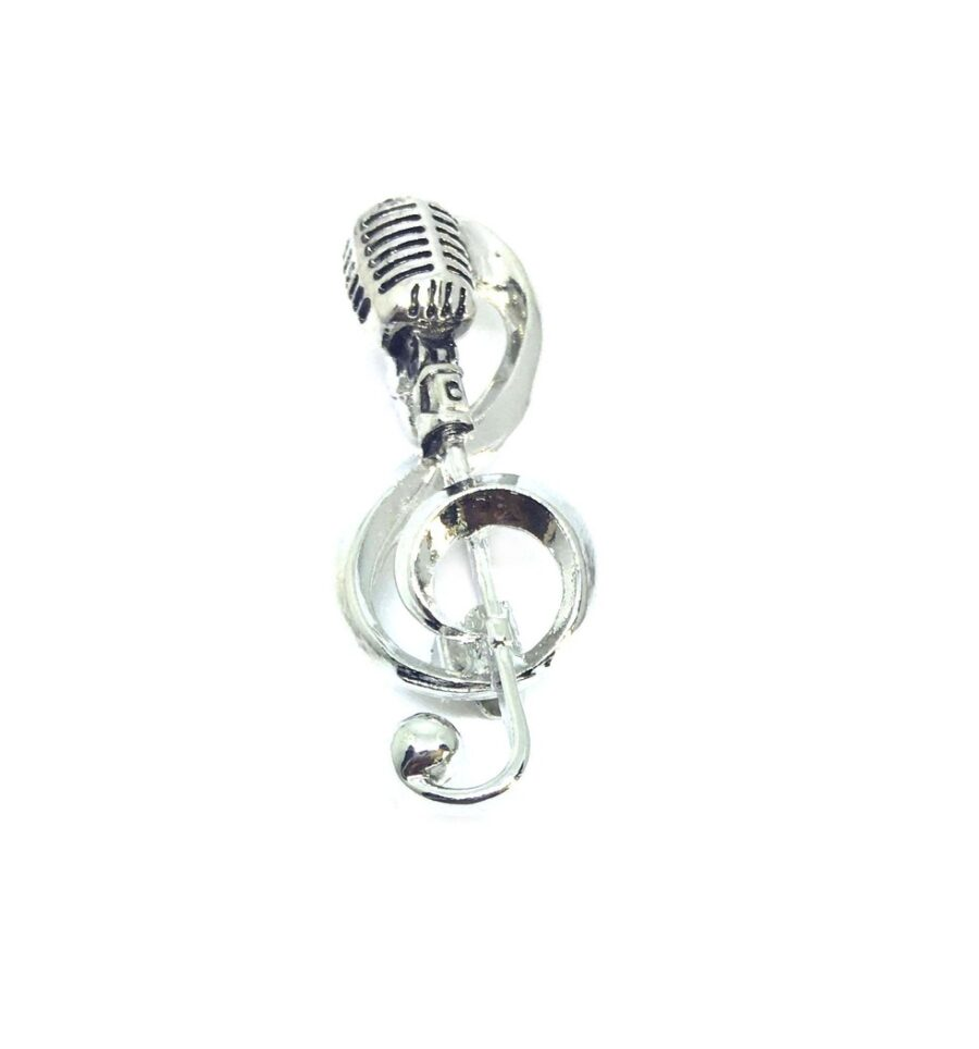 Mike Music Note Lapel Pin