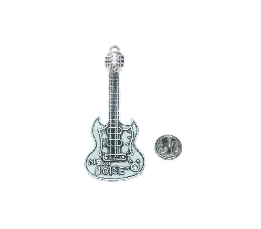 Guitar Music Lapel Pin