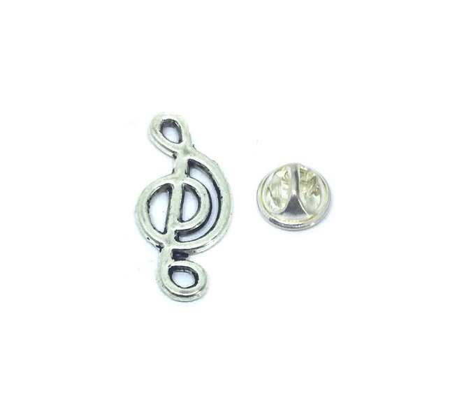 Treble Clef Music Pin