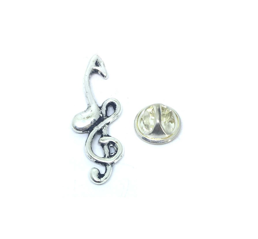 Treble Clef & Eighth note Lapel Pin