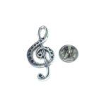 Oxidize Treble Clef Music Lapel Pin