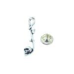 Skull Half Note Music Lapel Pin