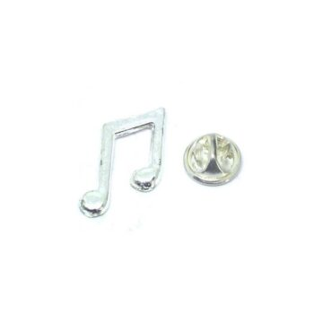 Slanted Beamed Eighth Note Lapel Pin