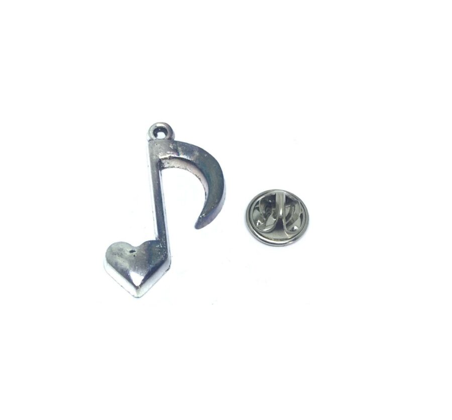 Heart Eighth Note Lapel Pin