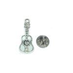 Silver tone Guitar Lapel Pin