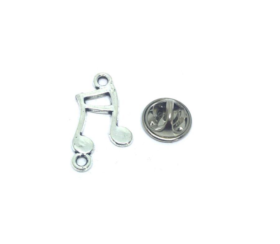 Slanted Beamed Sixteenth Lapel Pin